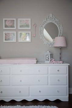 Soft And Elegant Gray And Pink Nursery Gray - Light pink nursery decor