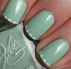 Mint Green with Dotted Tips
