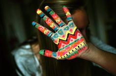 tribal hand
