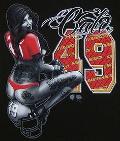 San Francisco 49ers Tattoo Designs   San Francisco 49ers Cali T Shirt Grafitti Tattoo Art Tee Adult XL 2XL ...