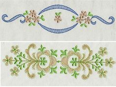 Elegant Linen Borders Machine Embroidery Designs http://www.designsbysick.com/details/elegantlinenborder