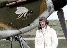 "Pilot Officer A.V.""Taffy"" Clowes - Hawker Hurricane Mk.I (JX-B) - No.I Squadron RAF Wittering, Huntingdonshire - Oct.1940"