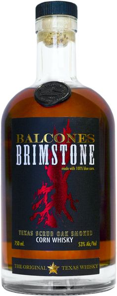 Balcones Brimstone Corn Whisky.  Distilled from 100% roasted Hopi Blue Corn, this #whisky earned a score of 95.5 points from Jim Murray's Whisky Bible. | @Caskers