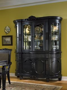 This is my China Buffet. Britannia Rose China Buffet by Millennium Hutch Furniture, Dining Room Furniture, Furniture Makeover, Painted Furniture, Crockery Cabinet, Dining Room Hutch, Staining Cabinets, Black Luxury, Furniture Inspiration
