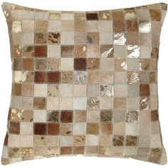 Beige Cowhide Patchwork Pillow ($115) ❤ liked on Polyvore featuring home, home decor, throw pillows, cowhide throw pillows, off white throw pillows, beige throw pillows, cowhide home decor and cream colored throw pillows