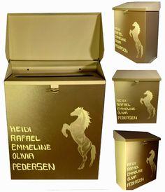 HJERTEHJORT: Hest er Best på Postkassa :)  How Cool is our new Horse Mailbox!