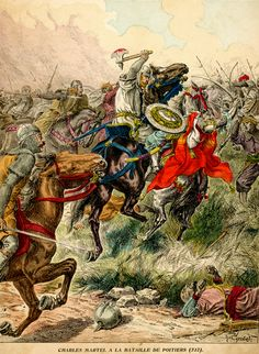 Charles Martel's (Charles the Hammer) Franks stop the Arabs at Poitiers - 732 AD
