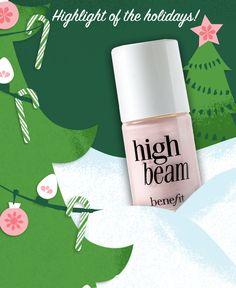 Try Benefit's award-winning High Beam liquid highlighter for a long lasting dewy glow. Use as spot highlighter or under complexion products. Christmas Countdown, Christmas Treats, Diy Beauty, Beauty Makeup, Liquid Highlighter, High Beam, Kiss Makeup, Benefit Cosmetics, My Coffee