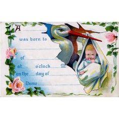 beautiful ephemera birth certificate