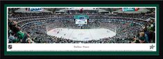 Dallas Stars Panoramic Picture - American Airlines Center - Single Matted Frame $149.95