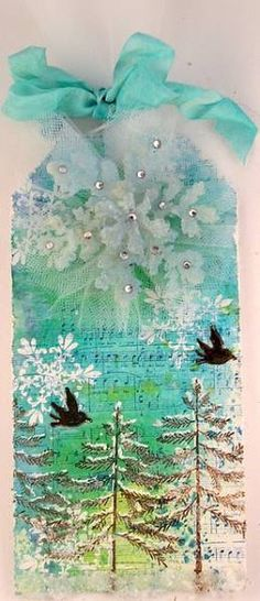 Snowy Tag by stampersuzz - Cards and Paper Crafts at Splitcoaststampers