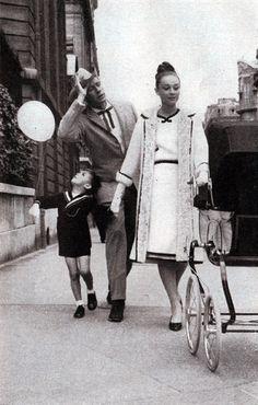 Audrey Hepburn (with Mel Ferrer & son, Sean) c. 1965?