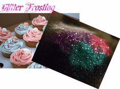 SUPER EASY!!! How to make an Edible Glitter Cupcake Frosting