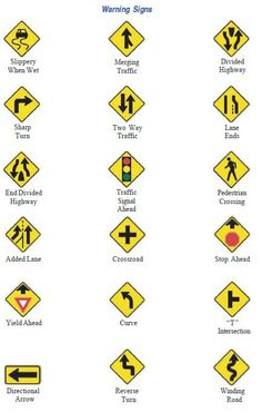 Nc dmv road signs chart north carolina signs pinterest signs