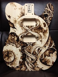 Pyrography on guitar body(basswood)