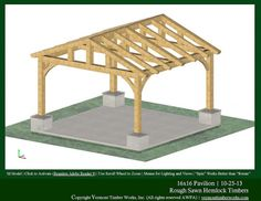 Plans, Perspectives, and Elevations of Timber Pavilions