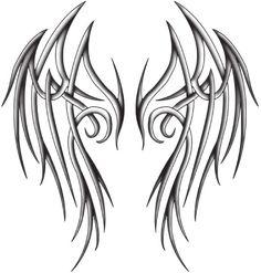 Latest Angel Tattoo Stencil 2014 : Tattoo Design Of Angel D N Angel, Angel Wings, Fairy Wings, Tribal Wings, Tribal Art, Body Art Tattoos, Tribal Tattoos, Cool Tattoos, Dibujos Tattoo