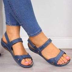 Upper Material:Faux Leather Sandals Style:Footbed Sandals Shoes Style:Slip-On,Elastic Band Heel Height:Low Toe Type:Peep Toe Block Sandals, Open Toe Sandals, Wedge Sandals, Leather Sandals, Shoes Sandals, Summer Sandals, Office Sandals, Gladiator Sandals, Pu Leather