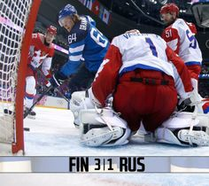 Granlund's assist & goal help lead Finland to a 3-1 victory v. Russia! Finns to play Sweden in semis. #mnwildinSochi