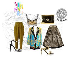 """pants or skirts? :)"" by bojana91 ❤ liked on Polyvore featuring Versace"