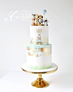 Image result for white and gold cake safari