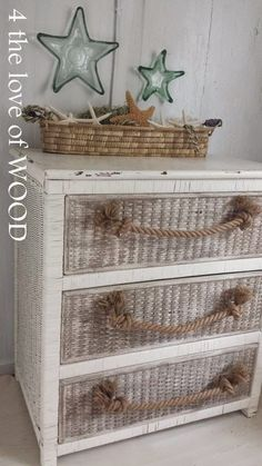 4 the love of wood: BIG SOFT ROPE HANDLES - nautical beach dresser