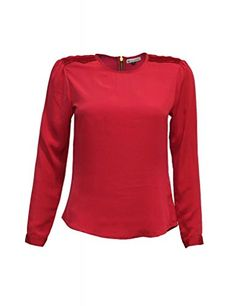 Attuendo Womens Pleated Blouse XL  10 Deep Wine *** You can get more details by clicking on the image.