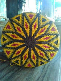 Bottom of mochila by crochet rajut solo