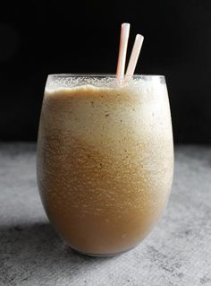DIY Tim Horton's french vanilla iced cappuccino: 17 ice cubes, 1/4 c french vanilla creamer, 1/3 c instant coffee. Blend until desired consistency (can take a while depending on the quality of your blender) - www.180movie.com