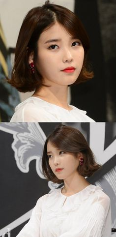 #IU #Kpop #bobbed hair