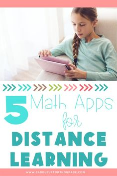 Need some fun math apps for kids for learning at home? Click the pin to check out these recommendations from a teacher for the best math apps to keep students learning!