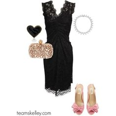 lbd ~ dolce & gabbana | necklace ~ tiffany & co. | heels ~ valentino | ring ~ mod cloth | #katiedskelley