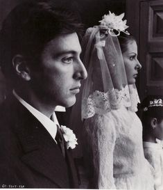 THE GODFATHER (1971) - Al Pacino & Diane Keaton - Directed by Francis Ford Coppolla - Paramount - Publicity Still.