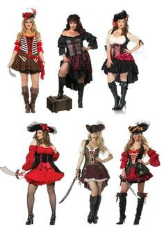 Sexy plus size pirates - great group costume idea for Halloween 2015 ... and ren faires too!!