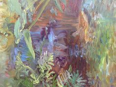 Botanic garden in Florida beautiful secret garden waterfall. Garden Waterfall, Mixed Media Artists, Botanical Gardens, Florida, Embroidery, Art Prints, Painting, Beautiful, Amigos