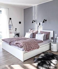 New trend modern Bedroom Design Ideas for 2020 Part 1 ; bedroom design ins Bedroom Photos, Bedroom Themes, Bedroom Sets, Home Bedroom, Bedroom Styles, Bedroom Girls, Bedroom Ideas Grey, Teen Bedroom Colors, Gray Room Decor