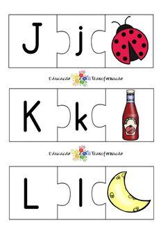 Blog Educação e Transformação: 👍 Alfabeto: quebra-cabeça Alphabet, Symbols, Literacy Activities, Alphabet Games, Cursive Alphabet, Lyrics, Alpha Bet, Icons, Glyphs