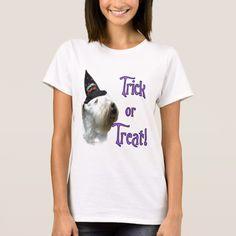 Sealyham Terrier Trick or Treat T-Shirt #halloween #holiday #creepyhollow #women #womensclothing