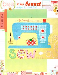 Sew She Did Applique Wall Hanging Pattern By Bee In by Pipersgirls