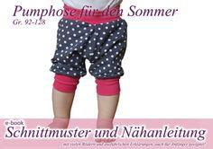 kurze Pumphose Hose Schnittmuster / Nähanleitung von selbermacher auf DaWanda.com