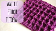 Video Tutorial, YouTube:  CROCHET: How to crochet the Waffle stitch by Bella Coco. A very nice tutorial. :) Thank you, Bella!  Work 1st Row in multiples of 3, + 4ch.
