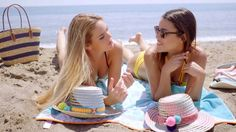 Two Attractive Young Women Laying Sunbathing #Beach, #Bikini, #DanielDash, #Friends, #Fun, #Girls, #Holidays, #Relax, #Sea, #Sunbathe, #Swimsuit, #Talking, #Tan, #Towell, #Vacations, #Women http://goo.gl/CjYcui