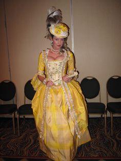 Bright yellow silk 18th century