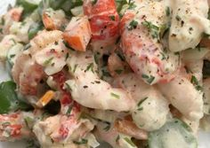 Let og lækker skaldyrssalat recipe main photo Shellfish Recipes, Seafood Recipes, Cooking Recipes, Healthy Recipes, Seafood Salad, Fish And Seafood, Lowest Carb Bread Recipe, Fish Dishes, Restaurant Recipes