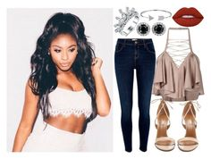 """""""Look Mani Photograpy"""" by amygrandepotter ❤ liked on Polyvore featuring River Island, Aquazzura, Bling Jewelry, Lime Crime and Balmain"""