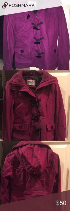 Pink dress coat from Delia's Fuchsia dress coat from Delia's. Great condition. delia's Jackets & Coats Pea Coats