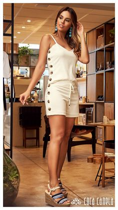 Swans Style is the top online fashion store for women. Shop sexy club dresses, jeans, shoes, bodysuits, skirts and more. Unique Gifts For Girls, Look Con Short, Summer Outfits, Casual Outfits, Best Prom Dresses, Cute Rompers, Girl Fashion, Womens Fashion, Crochet Clothes
