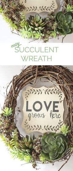 Easy spring wreath f