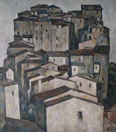 Leopold Hauer, SIENA, um 1960, WV 2192, Öl auf Hartfaser, 80 x 71 cm Siena, Houses, Painting, Art, Cities, Homes, Painting Art, Paintings, Kunst
