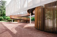 laboratory of architecture mediatheque fills the deficit of the cultural facilities in tbilisi - Lab moodboard - Delpozo - # Cultural Architecture, Architecture Résidentielle, Education Architecture, Commercial Architecture, Sustainable Architecture, Contemporary Architecture, Wood Staircase, Urban Design, Exterior